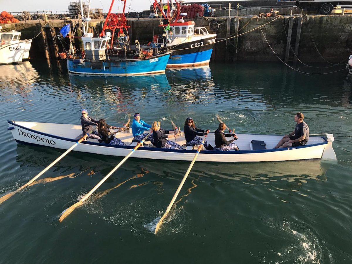 Lyme Regis Gig Club women's veteran team